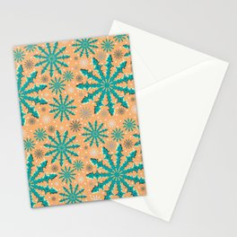 Christmas optical illusion texture pattern Stationery Cards