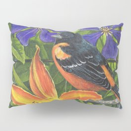 Northern Oriole and Day Lily Pillow Sham