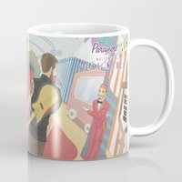 paramore Mugs featuring Paramore - Welcome to Real World by Zinenkoij