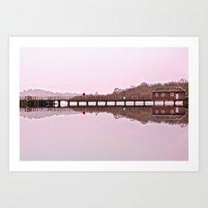 Luss Pier Art Print