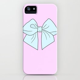 Alice Blue Vector Bow iPhone Case