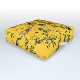 Monkey World Yellow Outdoor Floor Cushion