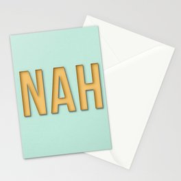 Funny nah text Stationery Cards