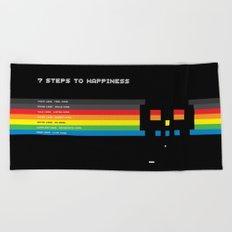 7 Steps To Happiness Beach Towel