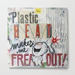 Plastic Beat Metal Print