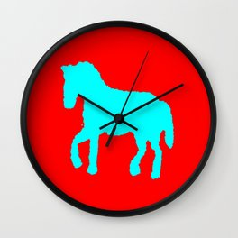 Blue horse  ign Wall Clock