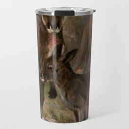Vintage Kangaroo Painting (1909) Travel Mug
