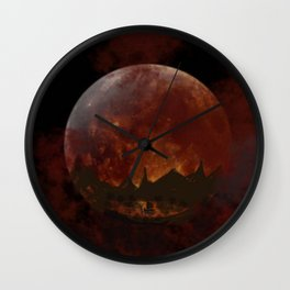Fisherman's Harvest Moon Wall Clock
