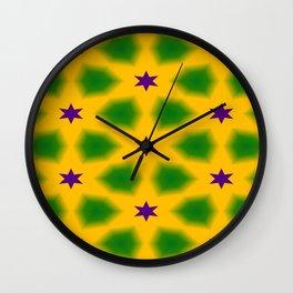 Mardi Gras Stars 3599 Wall Clock