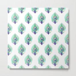 Peacock Pattern_E01 Metal Print