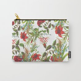 Ruby & Cerulean Floral Carry-All Pouch