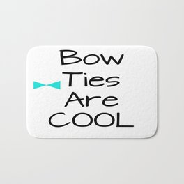 DOCTOR WHO Bow Ties Are Cool Aqua Bath Mat