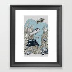 The Streets of Atlantis Framed Art Print