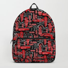 Gamer Lingo-Black and Red Backpack