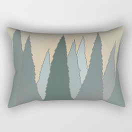 Evergreen Trees Rising in the Woods with the Sun Rectangular Pillow