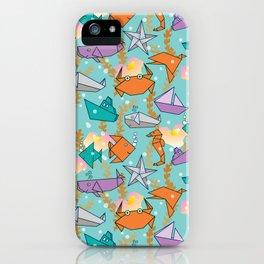 Origami Ocean iPhone Case