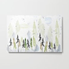 Into the woods woodland scene Metal Print