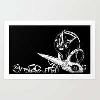 starcraft Art Prints featuring Penguinoid by adru