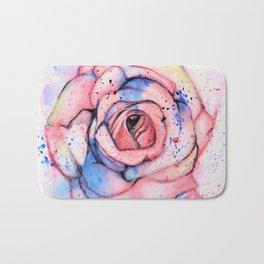 Colorful Rose Bath Mat