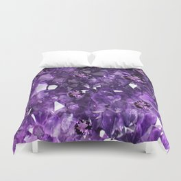 FEBRUARY PURPLE AMETHYST GEMS & CRYSTALS BIRTHSTONE Duvet Cover