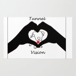Tunnel Vison (love is a pit bull No.3) Rug