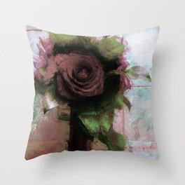 Shabby Rose Throw Pillow