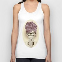 face Tank Tops featuring Fu*k U by Giulio Rossi