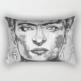 Frida KAHLO Flowers Black and White Rectangular Pillow