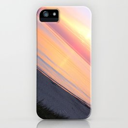 Sunset in the beach iPhone Case