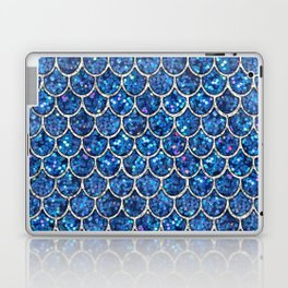 Sparkly Blue & Silver Glitter Mermaid Scales Laptop & iPad Skin