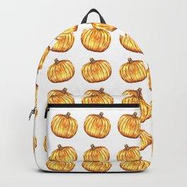 Halloween Pumpkin Watercolor Pattern Backpack