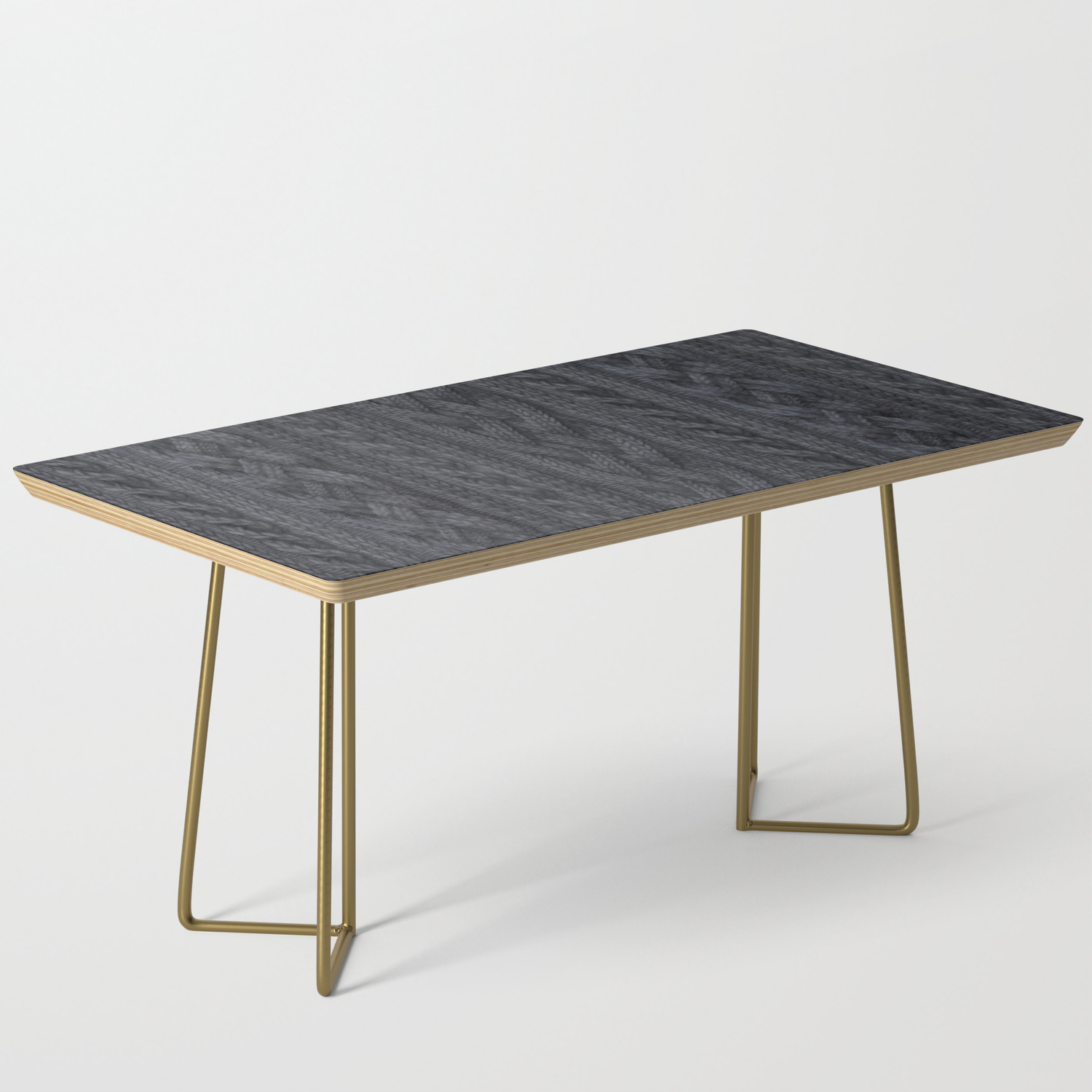 Charcoal Cable Knit Coffee Table By Zanna