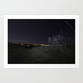 Nose Hill Park at night Calgary Art Print