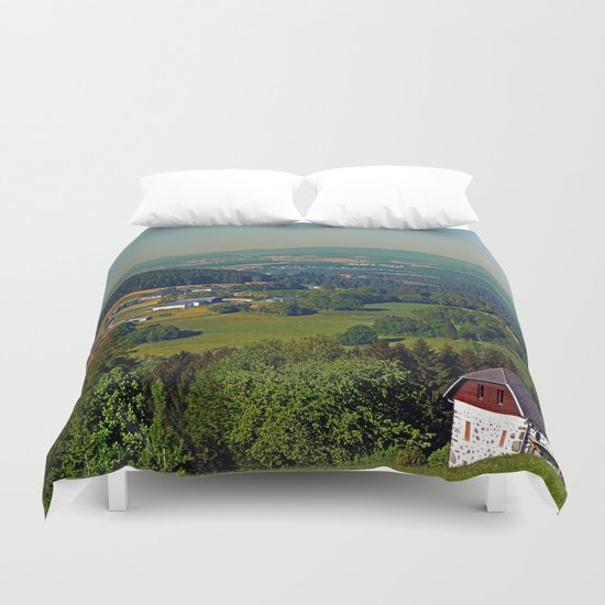 Another panoramic view into spring season Duvet Cover