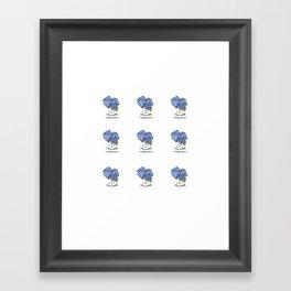 Hydrangea painting tiny prints Framed Art Print