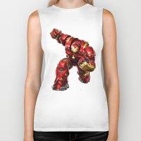iron man Biker Tanks featuring IRON MAN IRON MAN by Smart Friend