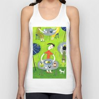 coconut wishes Tank Tops featuring Coconut curry by AW illustrations