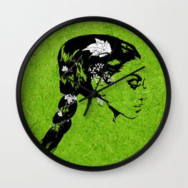 Lady of the Vine Wall Clock