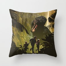 Dinosaur Poster Throw Pillow