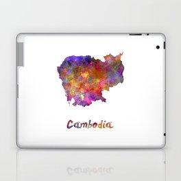 Cambodia in watercolor Laptop & iPad Skin