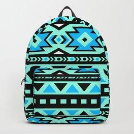 Cyan Boho Pattern Backpack