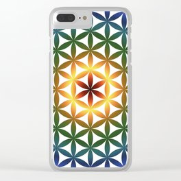 Rainbow tree of life colourful seed of life Clear iPhone Case