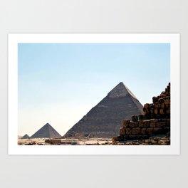 The Great Pyramids of Giza, Cairo, Egypt Art Print