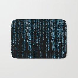 Matrix Binary Blue Code Bath Mat