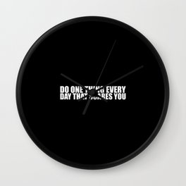 """Do one thing every day... """"Eleanor Roosevelt"""" Inspirational Quote Wall Clock"""