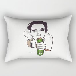 Unknown Celebrity with Pickle Rectangular Pillow
