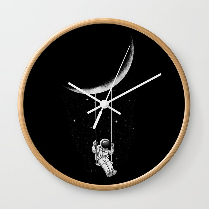 Moon Swing Wall Clock