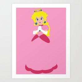 Princess Peach - Minimalist #2 Art Print