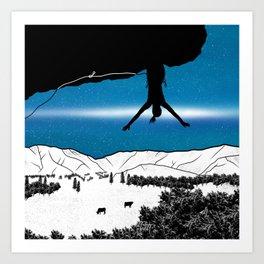 Rock Climbing New Zealand Art Print