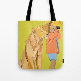 Lion Girl Tote Bag